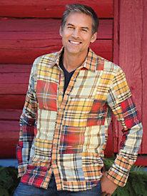 Men's Gramicci Patchwork Plaid Shirt