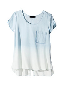 Women's Ombre Chambray Top