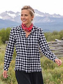 Flannel Fringe Shirt...