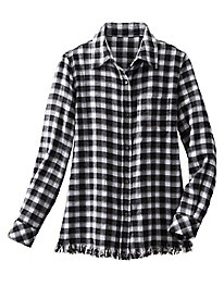 Flannel Fringe Shirt