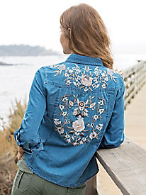 Embellished Denim Shirt
