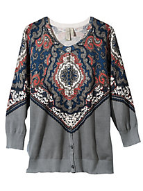 Women's Allover Print Cardigan
