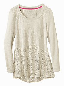 Women's Lace Tunic Sweater
