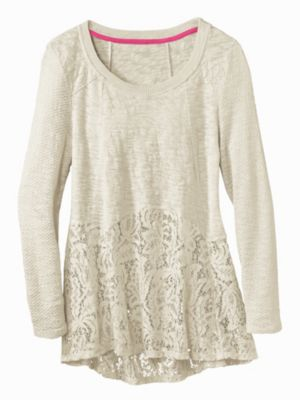 Women's Lace Tunic Sweater | Sahalie