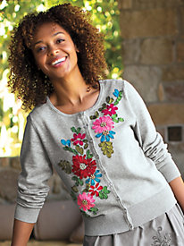Women's Ribbon Garden Cardigan