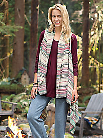 Playful Stripe Knit Vest