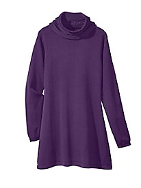 Cable Cowl Tunic Sweater