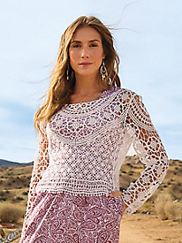 Open Lacy Pullover