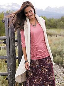 Indigenous Plush Alpaca Wrap Vest