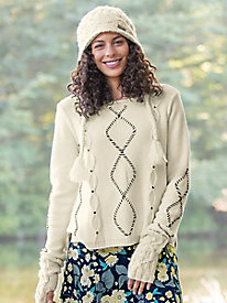 Indigenous Studded Cable Sweater