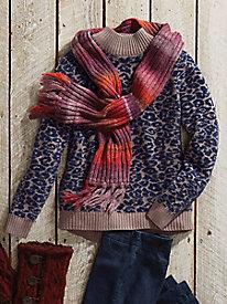 Animal Print Chenille Sweater