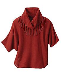 Fringe Detail Short Sleeve Sweater
