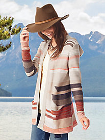 Aztec Stripe Jacquard Hooded Cardigan