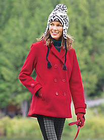 Women's Fleece Pea Coat