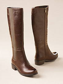 Women's Classic Calf Stretch-Panel Leather Boots