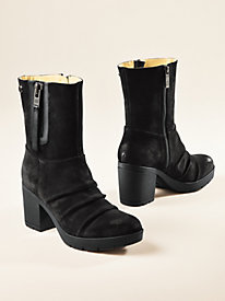 Women's Bussola Ruched Suede Ankle Boots