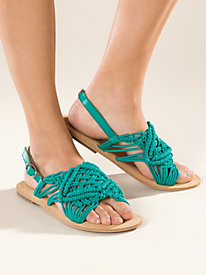 Women's Latigo Macrame Flat Sandals