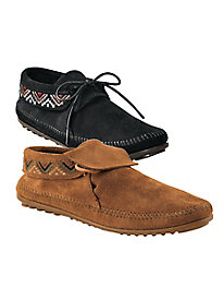 Minnetonka Mosaic Embroidered Moccasins