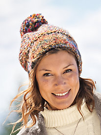 Women's Buff Knit Pompom Hat