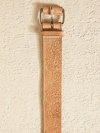 Flower Embossed Belt