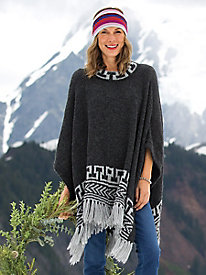Women's Alpaca Poncho Sweater