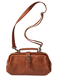 Women's Mo & Co. Small Leather Dr. Bag