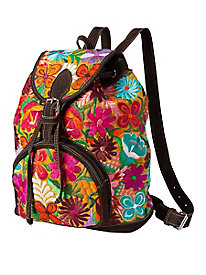 Unique Batik Flower Backpack