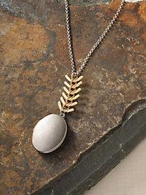 Fishbone Locket Necklace