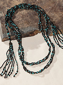 Women's Beaded Wrap Necklace