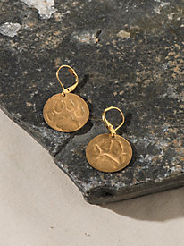 Women's Paw Print Earrings