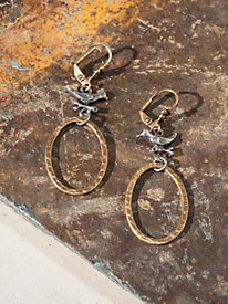 Women's Bird & Hoop Earrings