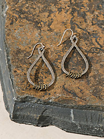 Women's Mixed Metal Drop Earrings
