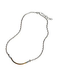 Silvery Crescent Necklace