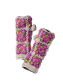 Women's Floral Frame Fingerless Gloves