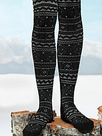 Women's Tribal Textured Tights