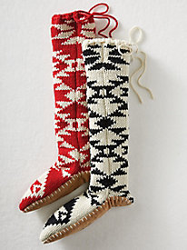 Pattern Slipper Socks