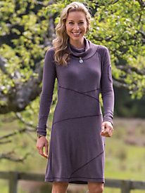 Women's Seams Perfect Cowl Neck Dress