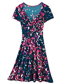 Women's Sweetheart Wrap Knit Dress
