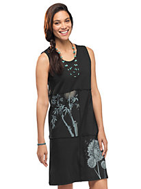 Women's Clay-Dyed Block Print Tank Dress