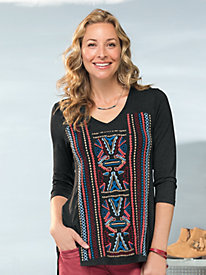Women's Totem Embroidered Knit Tunic