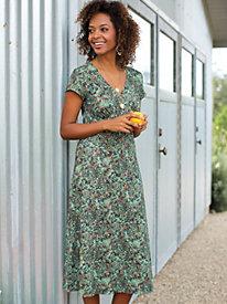 Bella Coola Print Knit Cap Sleeve Dress