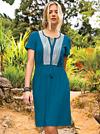 Women's Can-Do Knit Peasant Dress