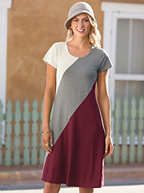 Women's Fresh Slant Knit Dress