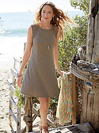 Heathered Lattice Shoulder Dress