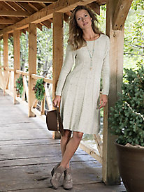 Swing Sweater Dress With Cables