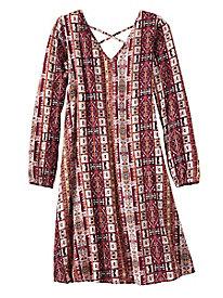 Cross Back Rayon Dress...