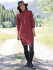 3/4 Sleeve Chevron Dress