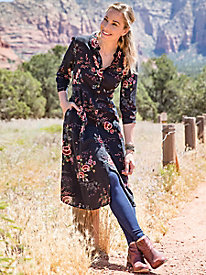 Floral Duster Dress