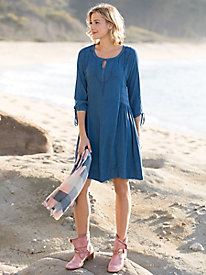 Flowy Side Smocked Tie Dress