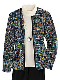 Open-Front Tweed Jacket